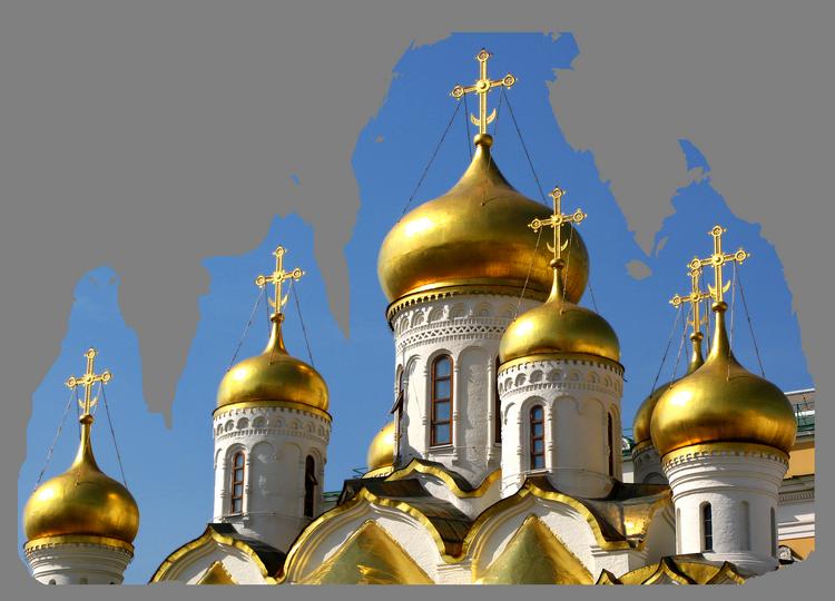 купола церквей из золота